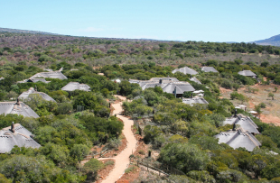 Msenge Bush Lodge Aerial Photo